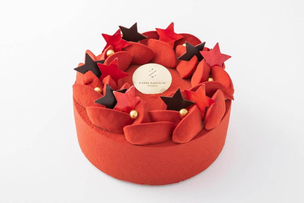 ピエール マルコリーニのクリスマス2020 - 真っ赤なビターチョコケーキ、オレンジを合わせて -
