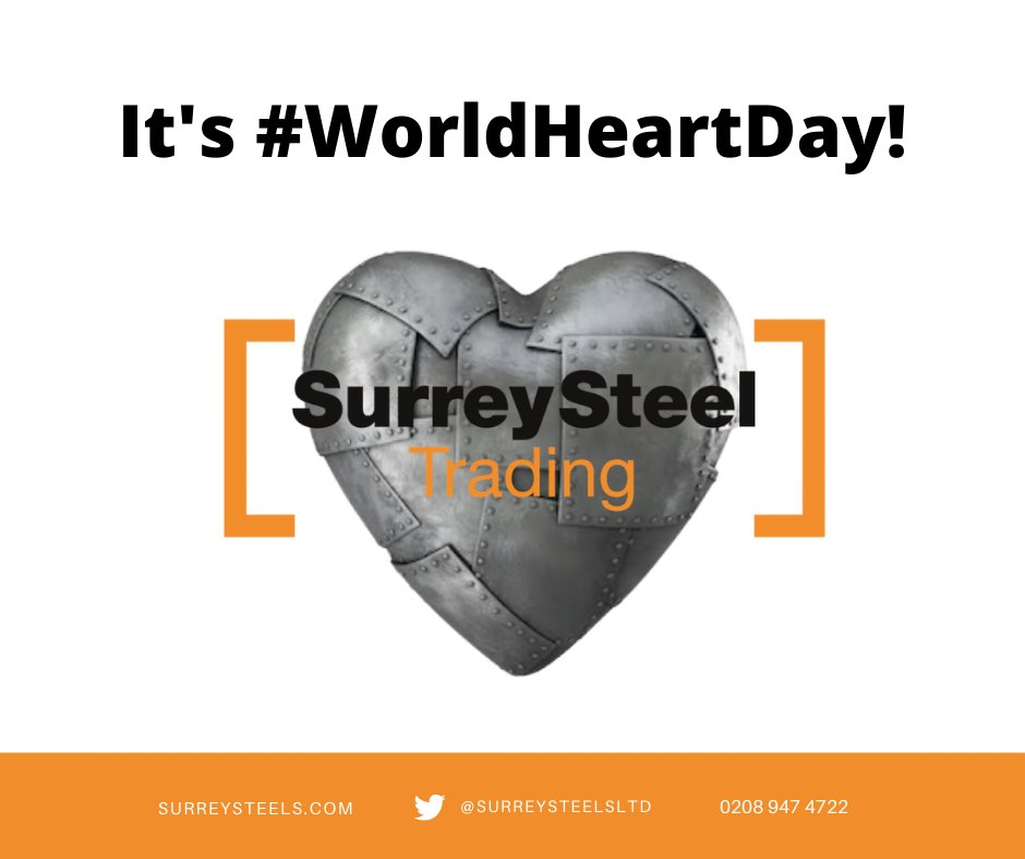 Today it's #WorldHeartDay. A day designed to raise global awareness of cardiovascular disease. At Surrey Steels, we #UseHeart and unite for the fight against CVD! Find out more at https://t.co/QoQjcm6dll #health #wellbeing #wellness #heartdisease https://t.co/lLN4YkegiR
