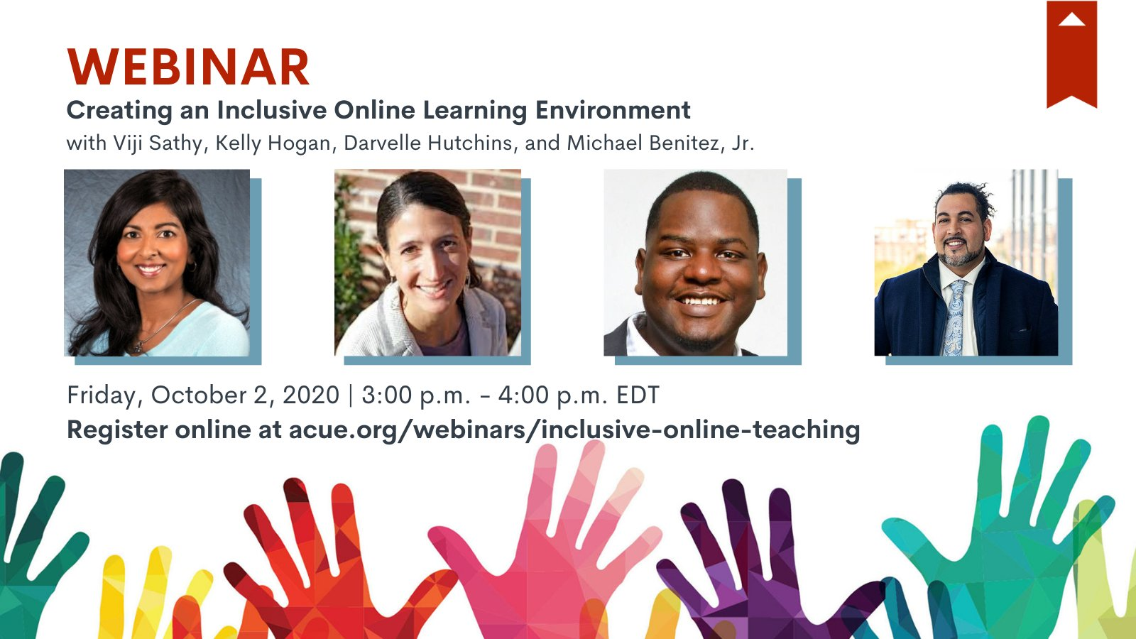 10/2/2020 ACUE webinar: Creating an Inclusive Online Learning Environment