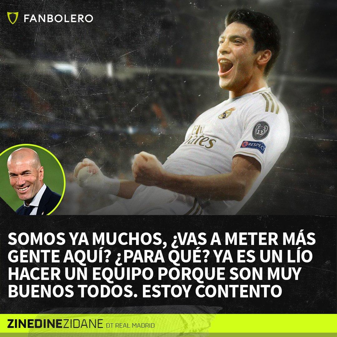 ¡AHORITA NO, JOVEN!  Para los que pensaban que Raúl Jiménez todavía podía llegar al Madrid, hoy Zidane lo dejó muy claro en conferencia de prensa 🗣🚫🇲🇽🇪🇸  #RaulJimenez #ZinedineZidane #RealMadrid #SoyFanbolero https://t.co/EIPOMURWr1