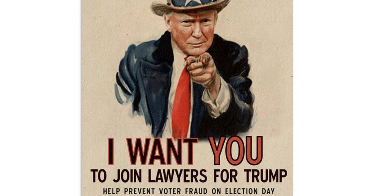 test Twitter Media - The Trump campaign is selling a poster asking lawyers to join the fight over ballots after Election Day.Trump, who frequently makes baseless charges of fraud about vote-by-mail, has said he expects the election to end up before the Supreme Court https://t.co/8fdkruh74x https://t.co/bmos0vTSHO