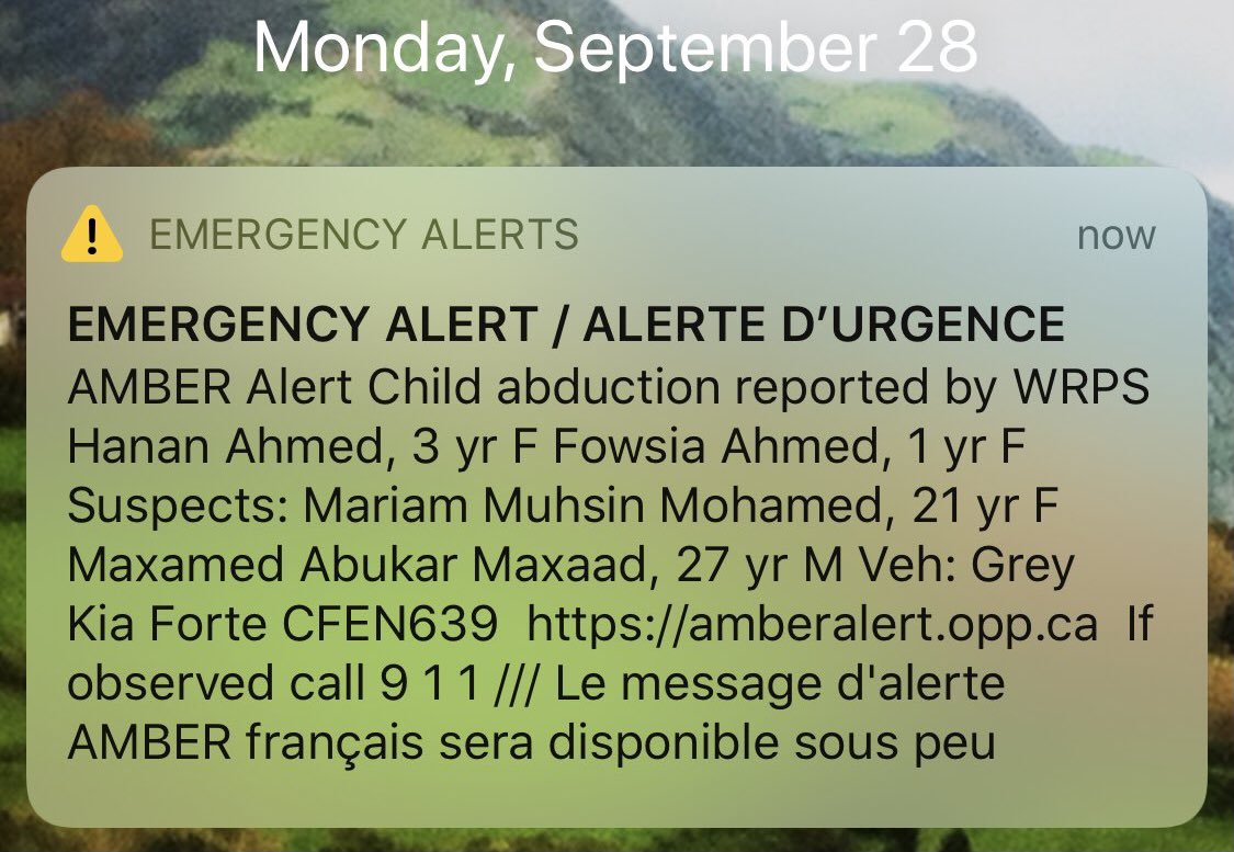 Tarek Fatah On Twitter This Amber Alert Flashed Last Night Has Been Withdrawn And The Names Erased But The Names Tell A Story That Authorities Wish To Conceal Https T Co Dvfarvxjor