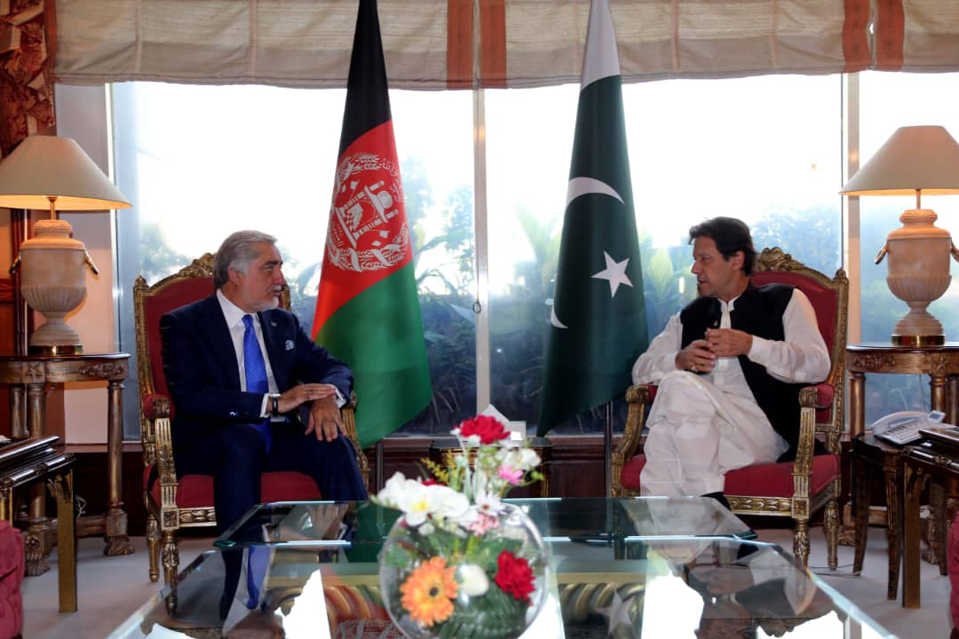 Abdullah Abdullah, head of the reconciliation council, met with Pakistani Prime Minister Imran Khan and discussed the peace process among other current topics, Abdullah's office said. https://t.co/ie07NeCmxh