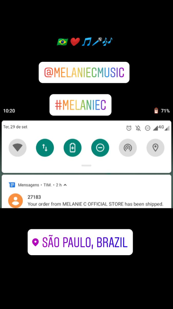 My 💿s are coming 😍🎧🤗❤️🎵🎶🇧🇷 Can't wait @melaniecmusic #MelanieC https://t.co/KOrIR0eVjM