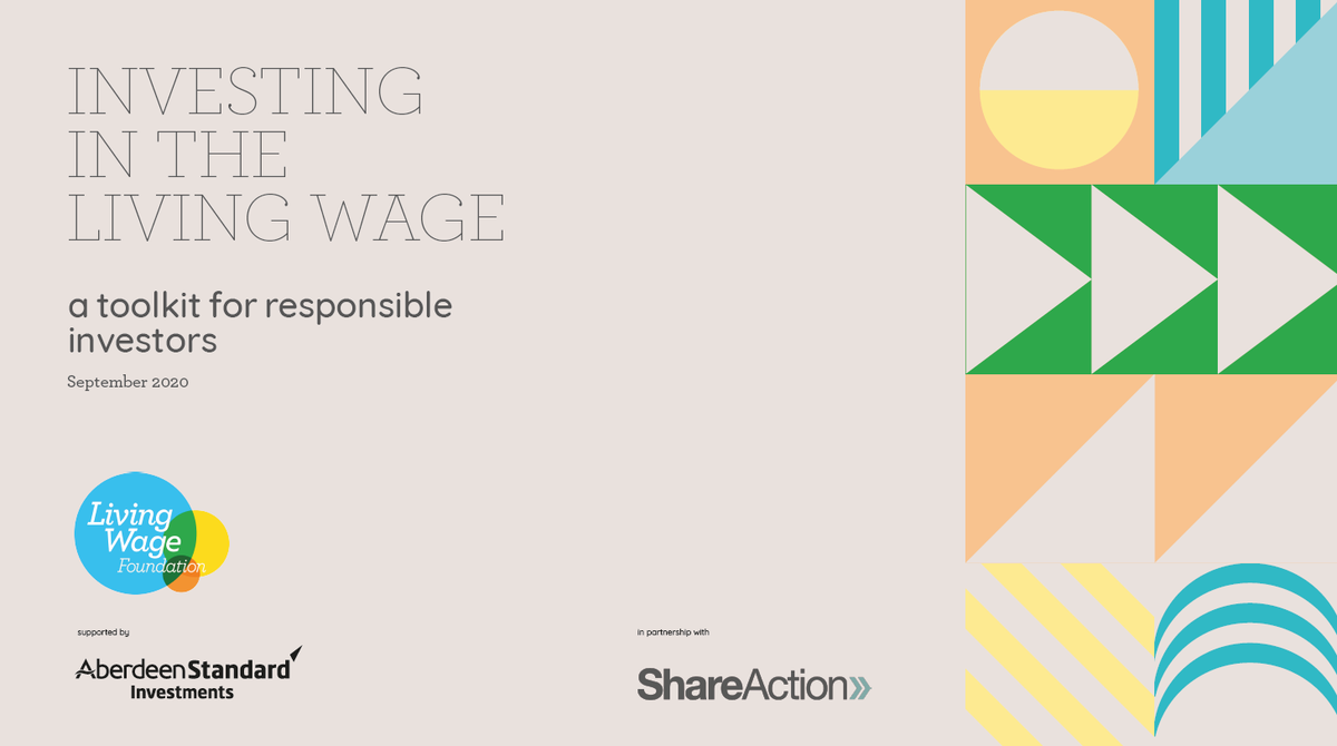 NEW: 'Investing in the Living Wage' - a toolkit developed by  experts in fair pay and responsible investment as a guide to how and why investors should chose #LivingWage Employers   Read it here: ➡️https://t.co/YXkSBSL2NX https://t.co/YrSleUxaub