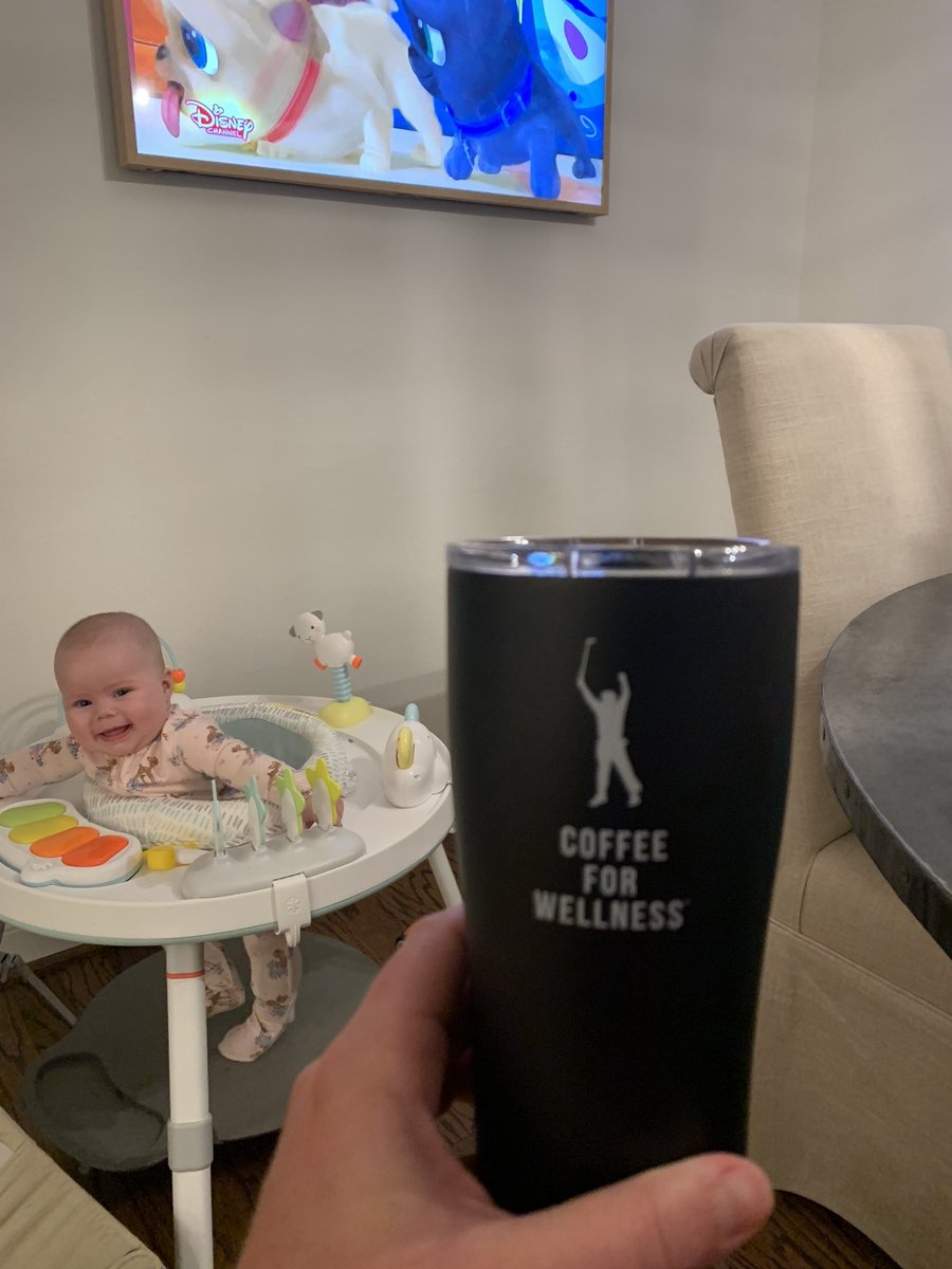 @PhilMickelson wasn't lying..this stuff is awesome (and I have never been a big coffee drinker). Nice work Phil and @ForWellness. Excited to begin this journey of starting my days off the right way. #cutebabyalert