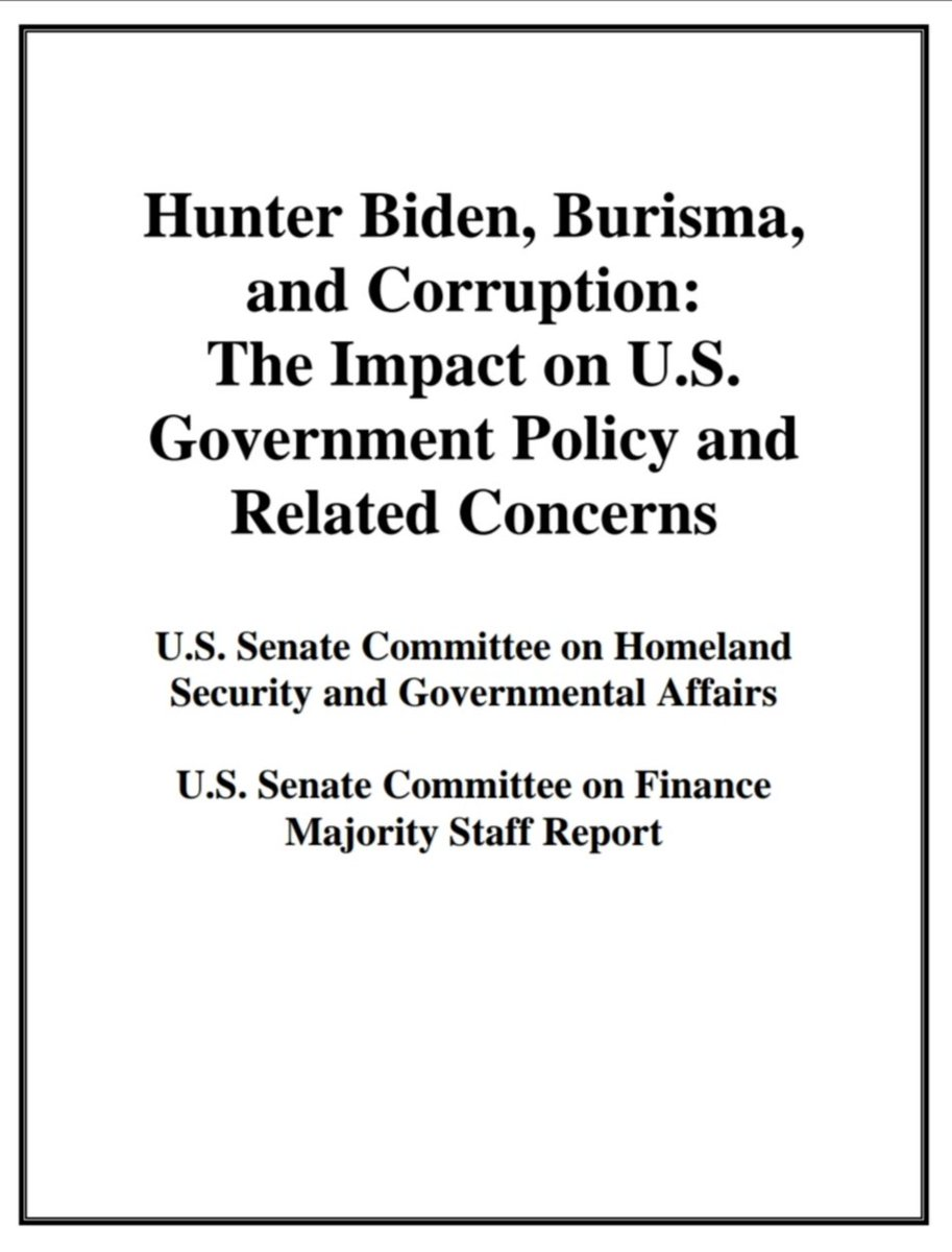 #BREAKING Released by @ding_gang 🚨HUNTER BIDEN, BURISMA, & CORRUPTION: THE IMPACT ON #US GOVT POLICY & RELATED CONCERN🚨  Biden's work & deep financial connections w/h #CCP that accelerated while Joe Biden was Vice President & also after he left office. 👉https://t.co/TbEW4JNSpR https://t.co/PVir5tqIpv