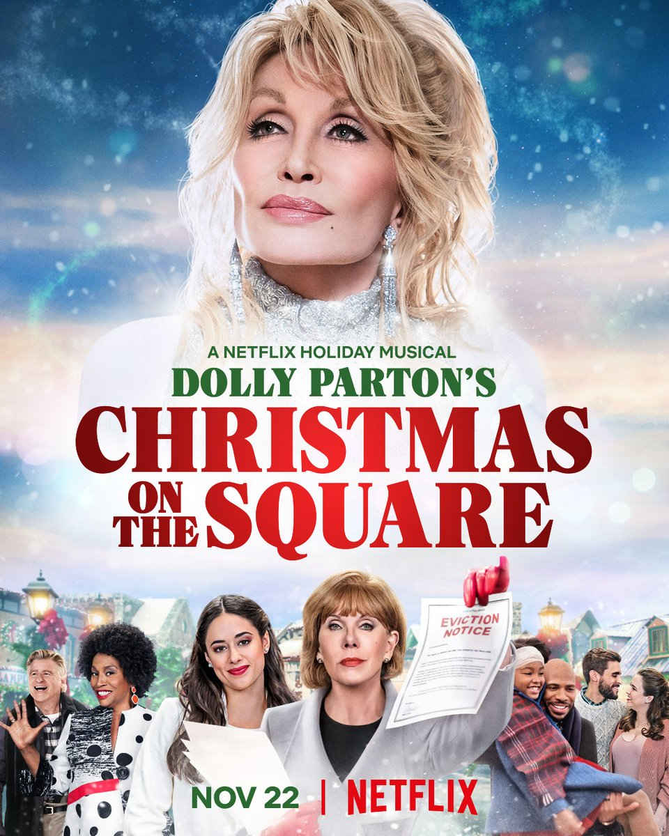 Christmas is a song in your heart 🎄 Join us Nov 22 for @DollyParton's Christmas on the Square, a Netflix holiday musical directed by @msdebbieallen, only on Netflix. https://t.co/ySqE3M458c