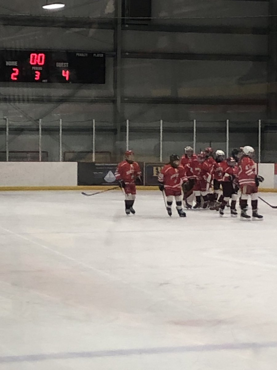 Congrats to our U12 Lady Terriers celebrate the victory over the weekend in their season opener 4-2.   Nice work lady terriers! #bjrterriers #ladyterriers #gobu #ehf @fedhockey #icehockey #hockey #girlshockey https://t.co/YkQtM9JnMp