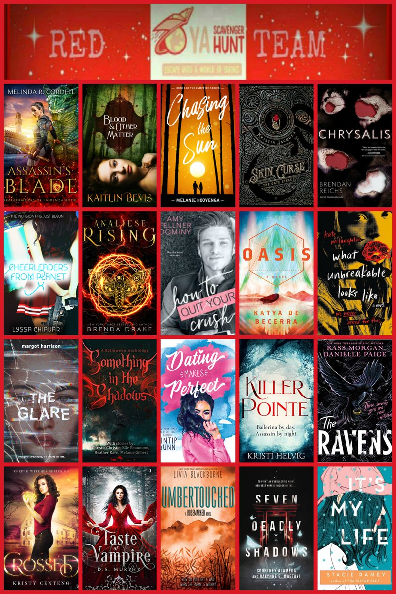 Only a few hours until the Young Adult Scavenger Hunt starts! Get ready for your chance to win tons of free books. #YASH #TeamRed https://t.co/RCzOFUeK3e https://t.co/zGXw2SR3bj