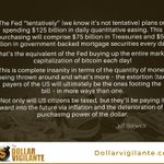 Image for the Tweet beginning: The Federal Reserve buys up