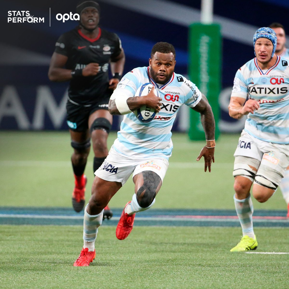 48 - @vvakatawa has beaten 48 defenders in the @ChampionsCup this season, 19 more than any other player, as well as making the most clean breaks (16). Flying. https://t.co/AsAxMFQyil