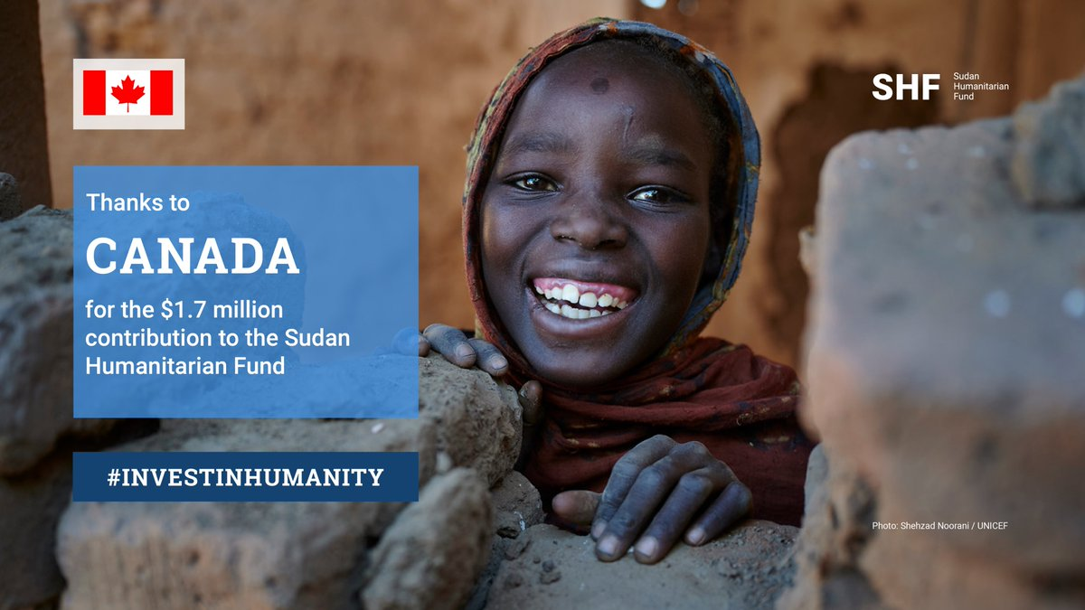 Thank you Canada🙏 Your continued support is making it possible for humanitarians to save millions of lives in #Sudan, as people in the country face floods, #COVID19, and economic crisis. https://t.co/nTbCZ9KsTK