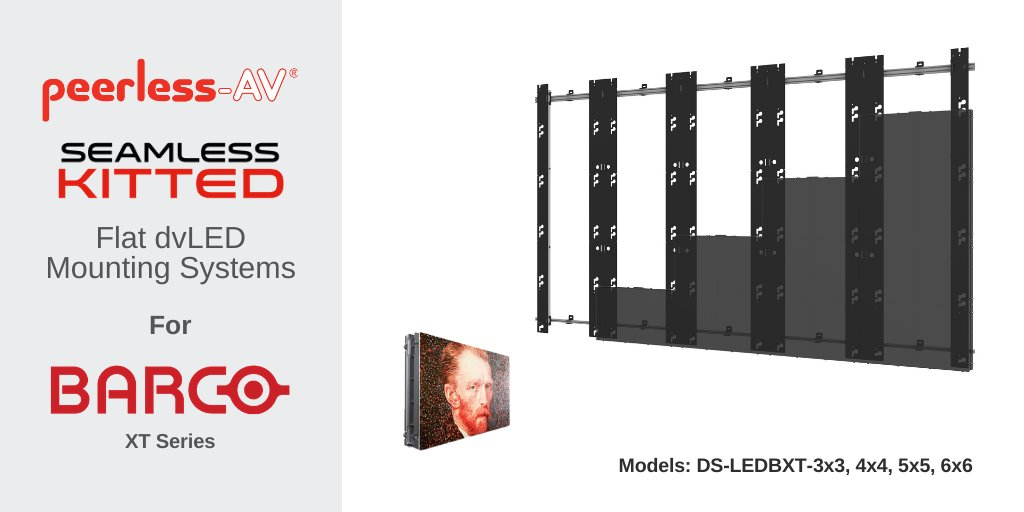 Peerless-AV offers dedicated dvLED Video Wall Mounts for @Barco XT Series Direct View LED Displays. One of eight models in the new SEAMLESS Kitted Series, find out more here: https://t.co/05jfIx2yll  #avtweeps #dvled #mountingsolutions #innovation #leddisplays #videowallsolutions https://t.co/XP3EKlmFo3