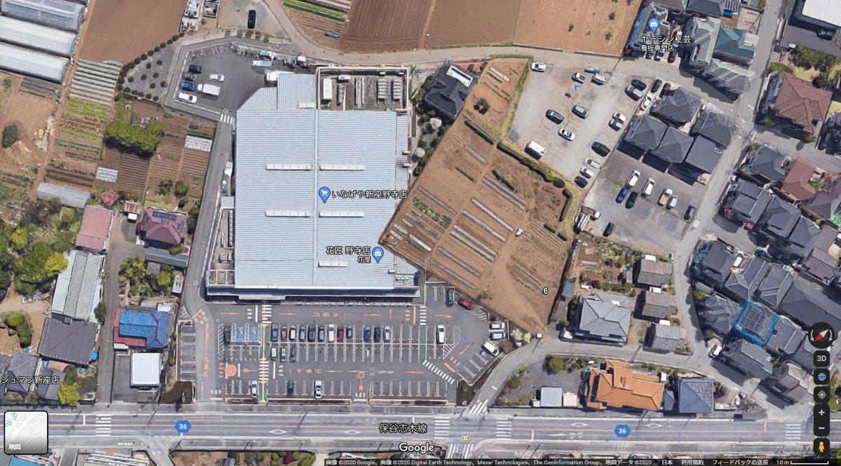 TLで流れてきたこのスーパー凄いな。用地買収に失敗したのに意地でも形を通しちゃったっぽく見える。