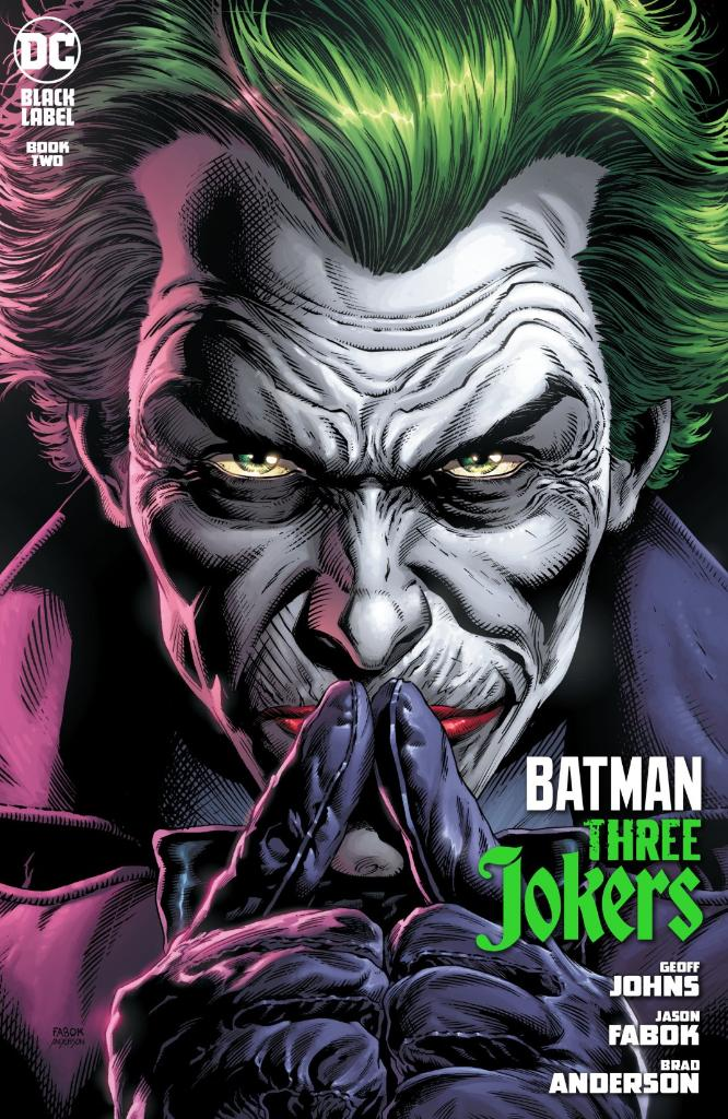 As Batman and Batgirl follow an unexpected thread linking the three Jokers, Red Hood finds himself struggling to stay afloat without the aid of his allies! https://t.co/Lq0LsU9VQh  W: @geoffjohns A: @JasonFabok C: @bdanderson13 L: #RobLeigh E: #MarkDoyle & @thatamedeo https://t.co/Gsc7l2Q6g2