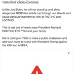 Image for the Tweet beginning: By declaring Antifa and the