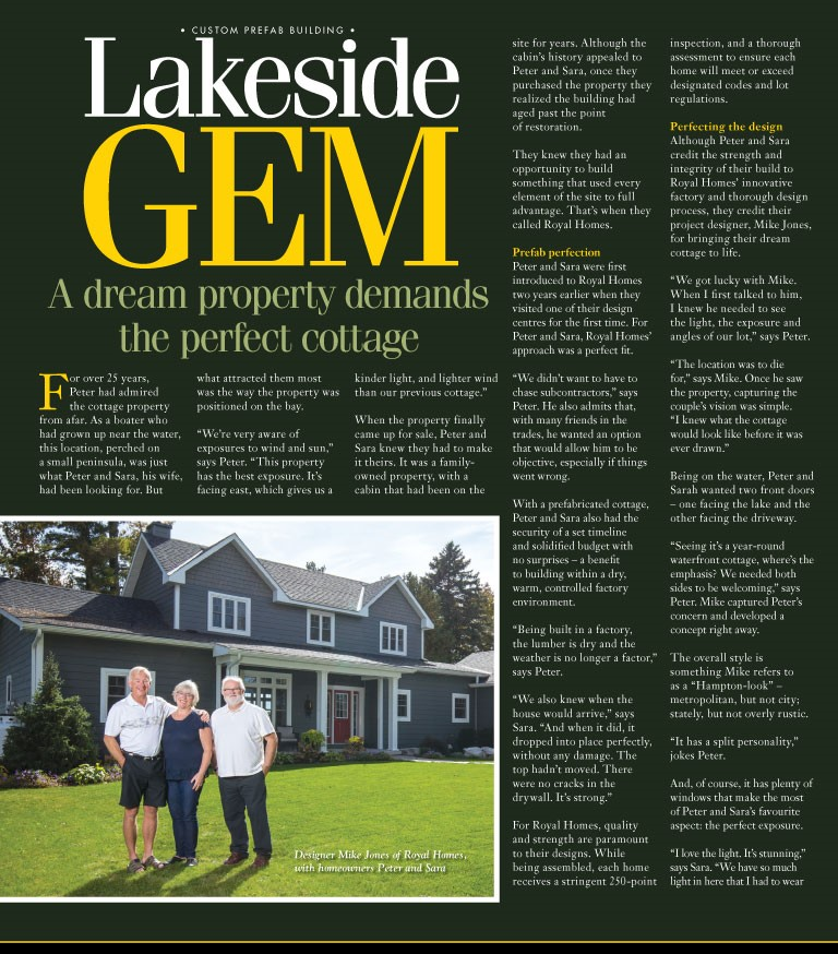 """We didn't want to have to chase subcontractors."" Of course, Peter and Sara didn't. That's why they went with Royal Homes for their #ValentinesDay gem. #DocksideMagazine #Prefabhomes #custombuilt #Cottageliving #Cottages #Dockside https://t.co/oaQpzDB5PZ"