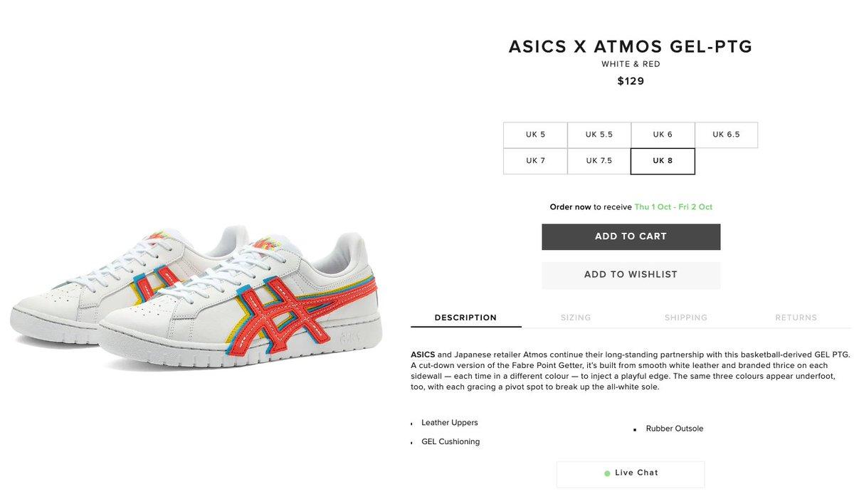 Ad: atmos x Asics Gel-Ptg 'White/Red' dropped via End => https://t.co/ZMwR2ya5xT https://t.co/g4tK0l0ojT