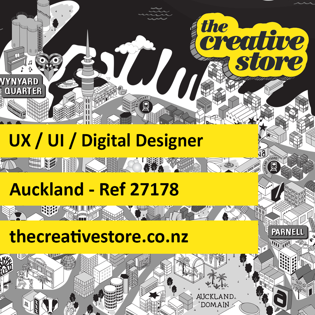 UX / UI / Digital Designer hana@thecreativestore.co.nz https://t.co/3zqSGkSxQ0 #UX #UI #web #inhouse #contract #technology #IT #design #digital #thecreativestore #tcs #jobs https://t.co/nAEZBgwCGQ
