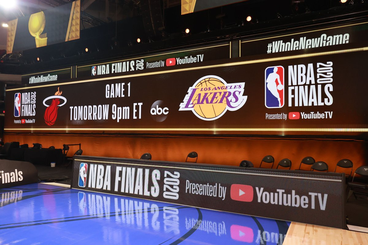 The stage is set.  #NBAFinals presented by YouTube TV Game 1 tips Wednesday night at 9:00pm/et on ABC! https://t.co/cOUz857Swk