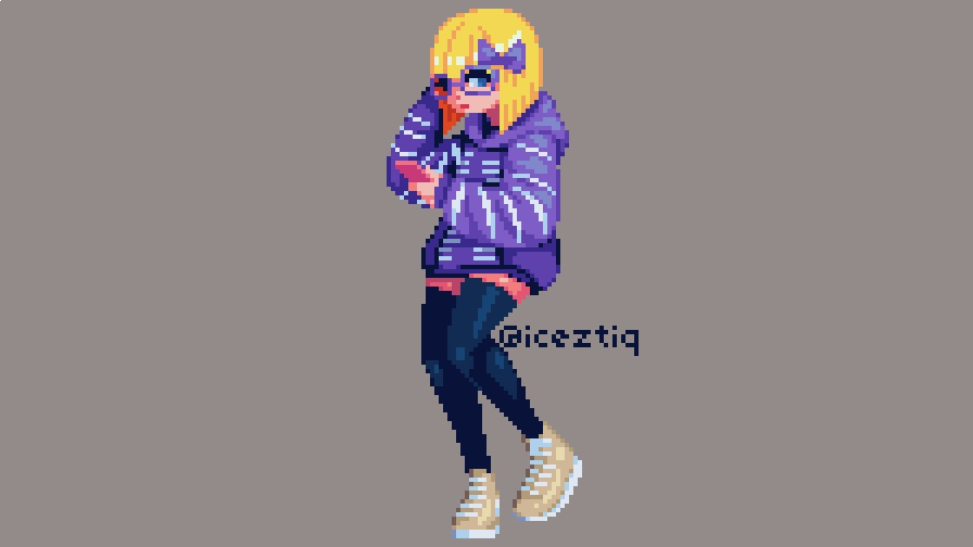Drew @ShinySeabass 's OC, Susea #pixelart #ドット絵 https://t.co/a419diCw5q