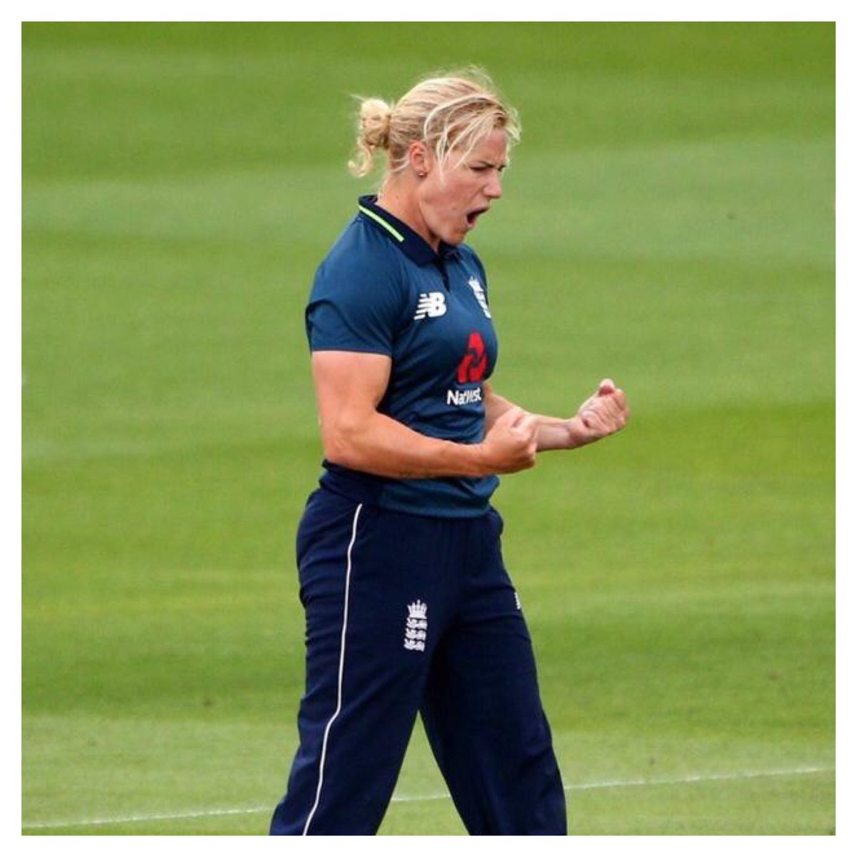 We celebration network partner @kbrunt26 during #womenscricketmonth 🏏  Can't wait to cheer her and the team on for the rest of the Internationals 🙌🏽 #TripleS #englandcricket #womensinternationals #katherinebrunt #cricket #networkpartner https://t.co/7Oo2jLmJ8c