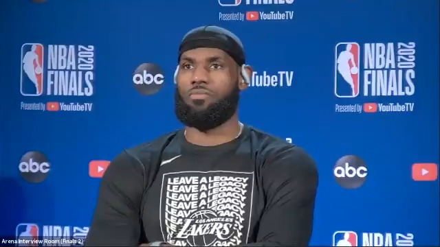 """""""It was a perfect match for those four years."""" - @KingJames on the important lessons he learned during his time with the Heat  #NBAFinals presented by @YouTubeTV Media Availability  Game 1: Wednesday - 9:00pm/et, ABC https://t.co/MFOsfbttG5"""