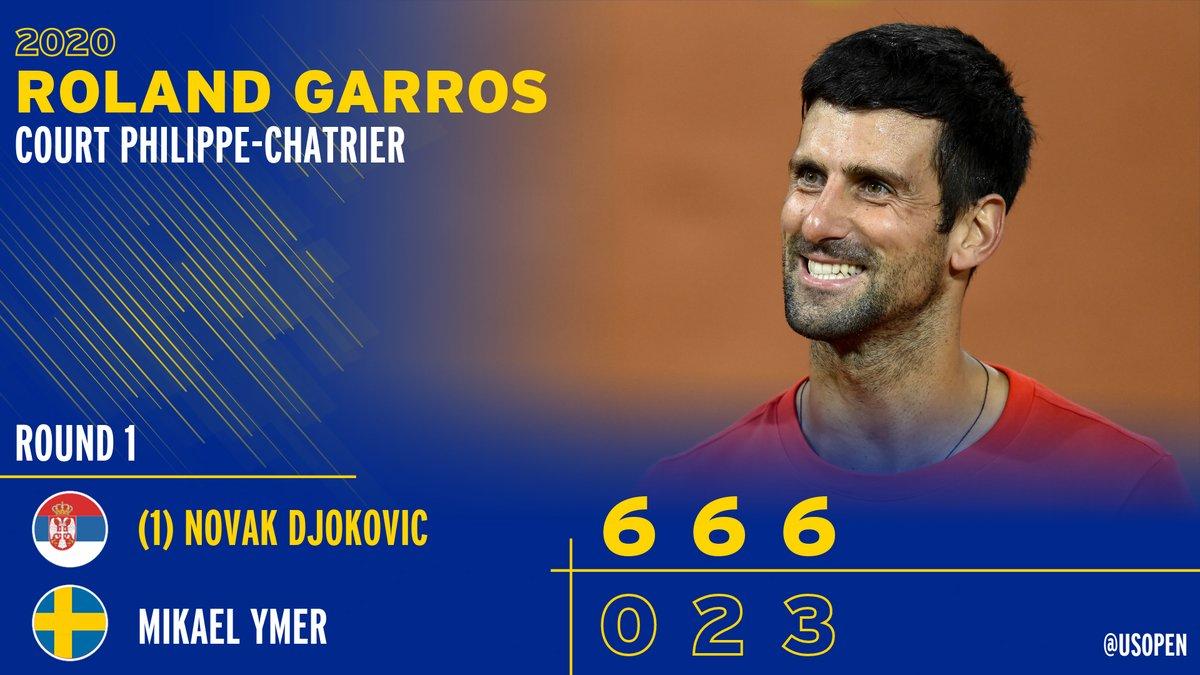 Dominant  Djokovic  @DjokerNole rolls into Round 2 at #RolandGarros https://t.co/893JwWanhb