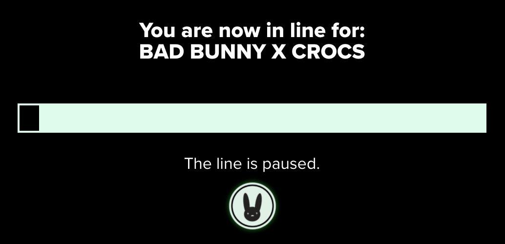 "Ad: ""The line is paused."" Bad Bunny x Crocs Classic Glow Clog  => https://t.co/lGhg1akxrl https://t.co/VzHRvJJ93f"