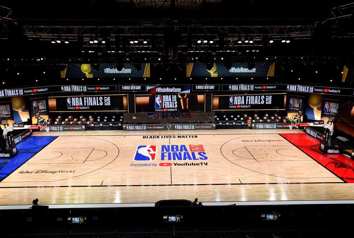 New NBA Finals court 👀 https://t.co/uB8dAPWtcQ