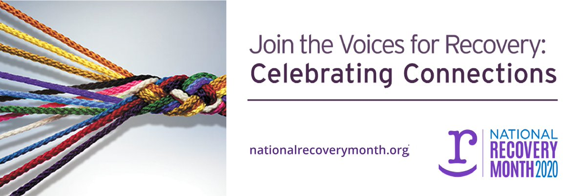 Recovery Month celebrates the gains made by those in recovery. #RecoveryMonth reminds people in recovery and those who support them, that we all have victories to celebrate even when the journey gets difficult.