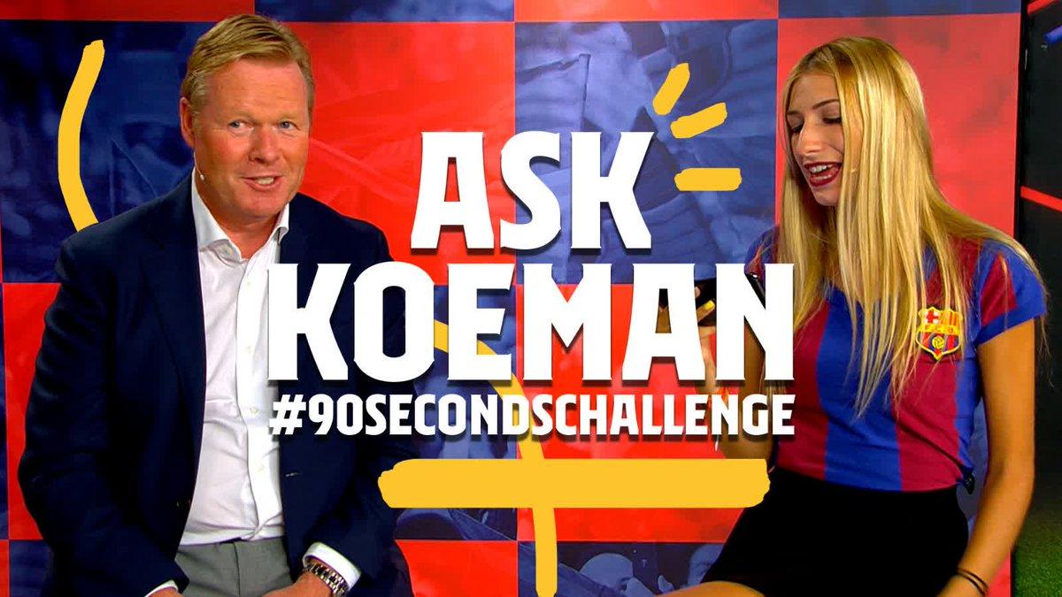 😜 @RonaldKoeman takes the #90secondschallenge https://t.co/61H4XCM7kD