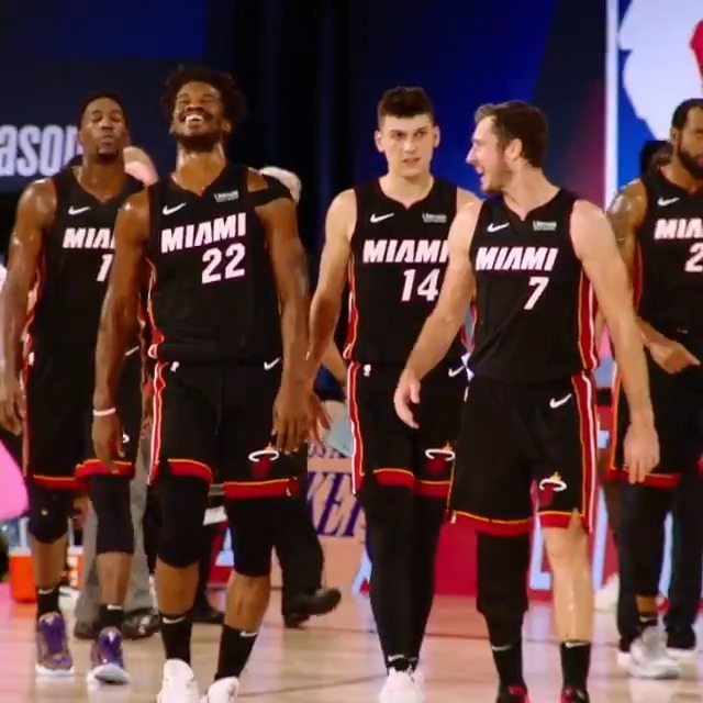Round 1 vs. IND: 4-0 Conf. Semis vs. MIL: 4-1 Conf. Finals vs. BOS: 4-2  @MiamiHEAT advanced to the #NBAFinals Presented by YouTube TV for the first time since 2014... watch Game 1 TOMORROW (9/30) at 9:00 PM ET on ABC! https://t.co/cNtPUMxlQg