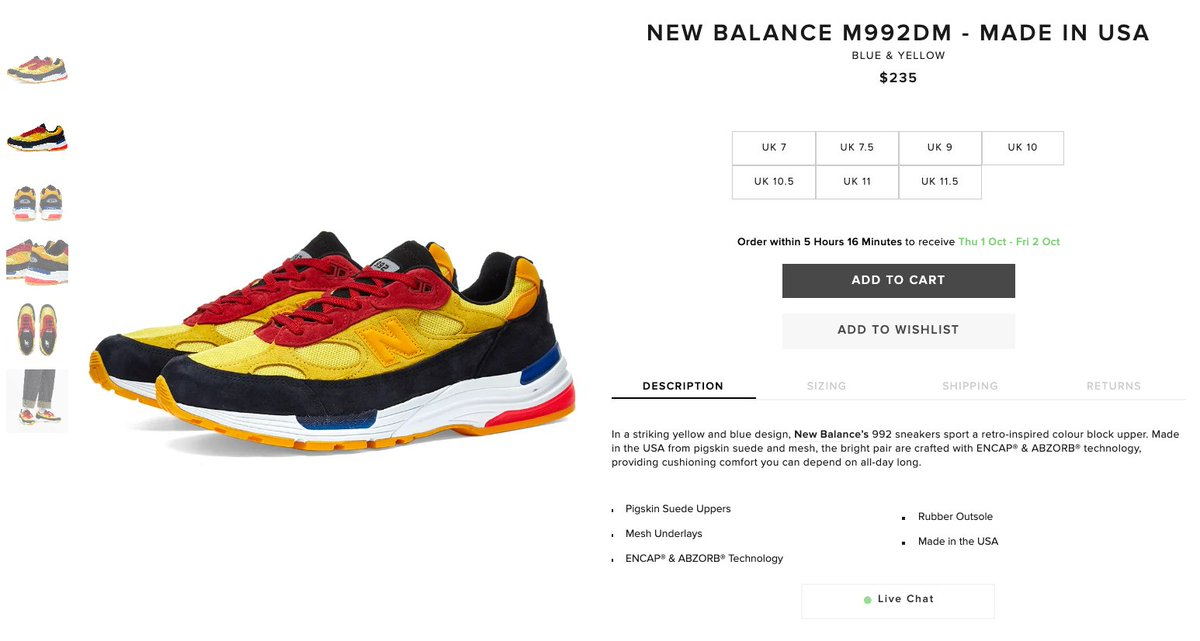 Ad: New Balance 992 'Yellow/Red/Black' dropped via End  US:https://t.co/V7Ls3IT57y EU:https://t.co/FJHzx5wbBO https://t.co/dymKEoiG1P