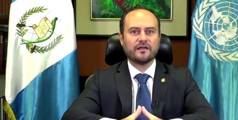 test Twitter Media - El canciller Pedro Brolo representa a Guatemala en el Debate General de la 75 Asamblea General de la Organización de Naciones Unidas.Brolo, reconoce la importancia del enfoque multilateralismo, se suma a la expresión de condolencias por los fallecidos de la COVID-19. https://t.co/VUmk0VhgAA