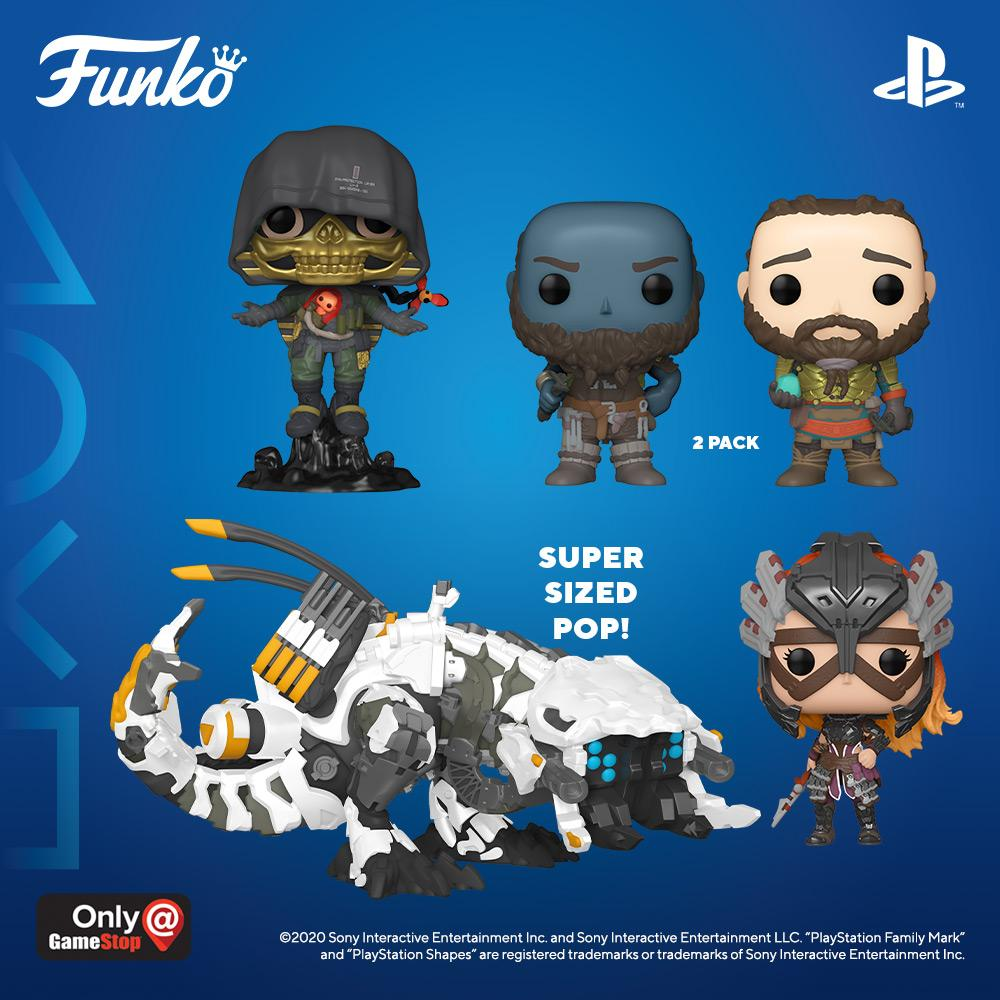 Funko and PlayStation collaborate to present another Funko line inspired by PlayStation characters. Pre-Order the Pop! GOD OF WAR 2-pack, Pop! Higgs from DEATH STRANDING, Pop! Aloy and Pop! Thunderjaw from HORIZON ZERO DAWN today! https://t.co/AyiWg3I9Sr #PlayStation #Funko #Pop https://t.co/NCmKIRuRq0