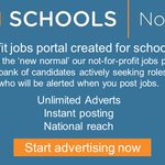 Image for the Tweet beginning: Our not-for-profit recruitment portal @JobsInSchoolsNE