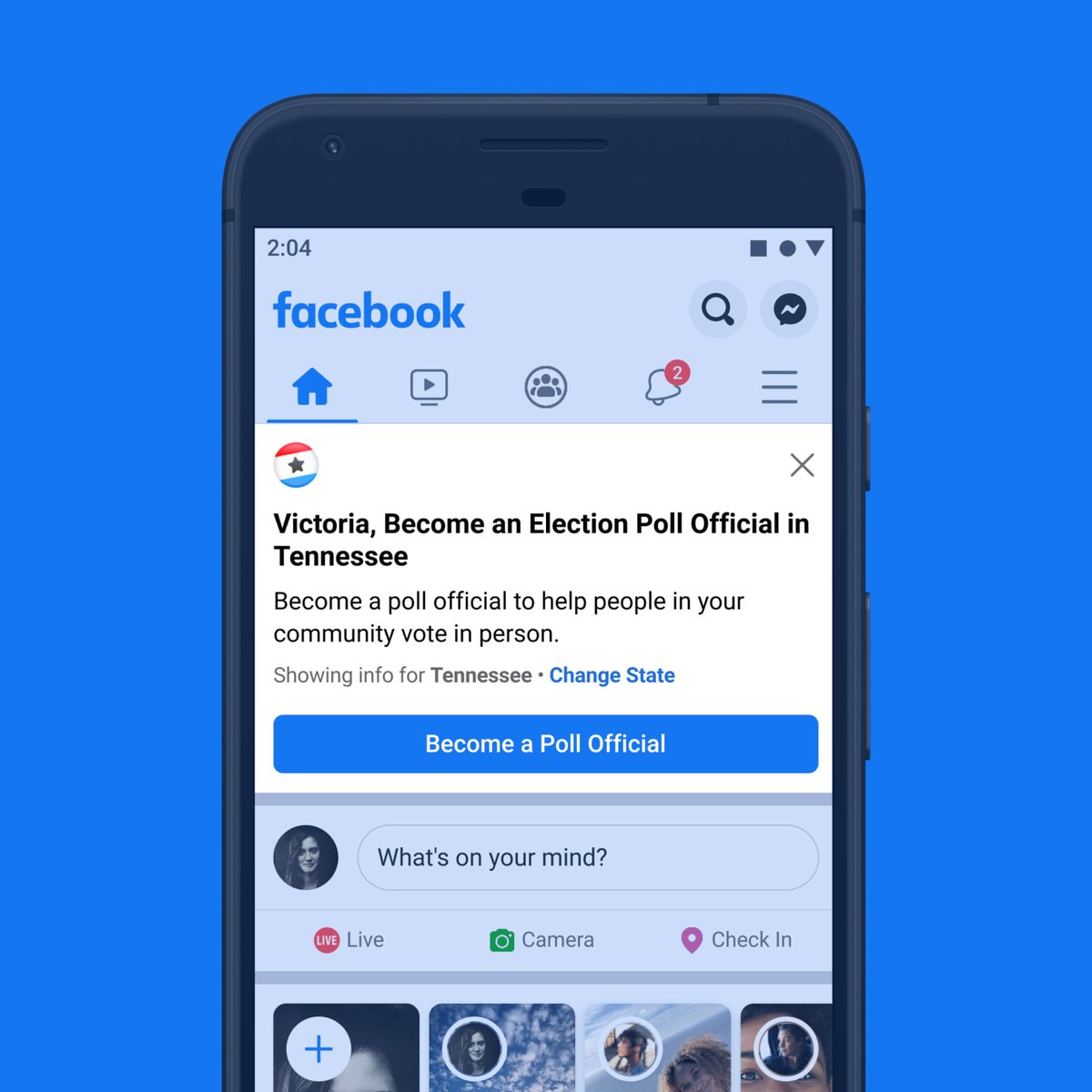 This month we ran a poll worker recruitment drive on  @facebookapp. In one day, we estimate that we helped about 100,000 people sign up, based on conversion rates from a number of states we've partnered with. To sign up for this critical role, visit