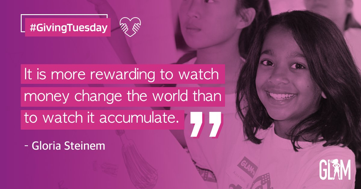 Donate to GLAM this #GivingTuesday and help us inspire and empower girls around the globe to be the trailblazers of tomorrow ✊🏿 ✨  👉🏾 https://t.co/wyzoGgVoaM 👈🏾  #GLAMReadytoLead #STEMSquad #WomeninTech #GivingFeelsGood https://t.co/YUrgnrhODx