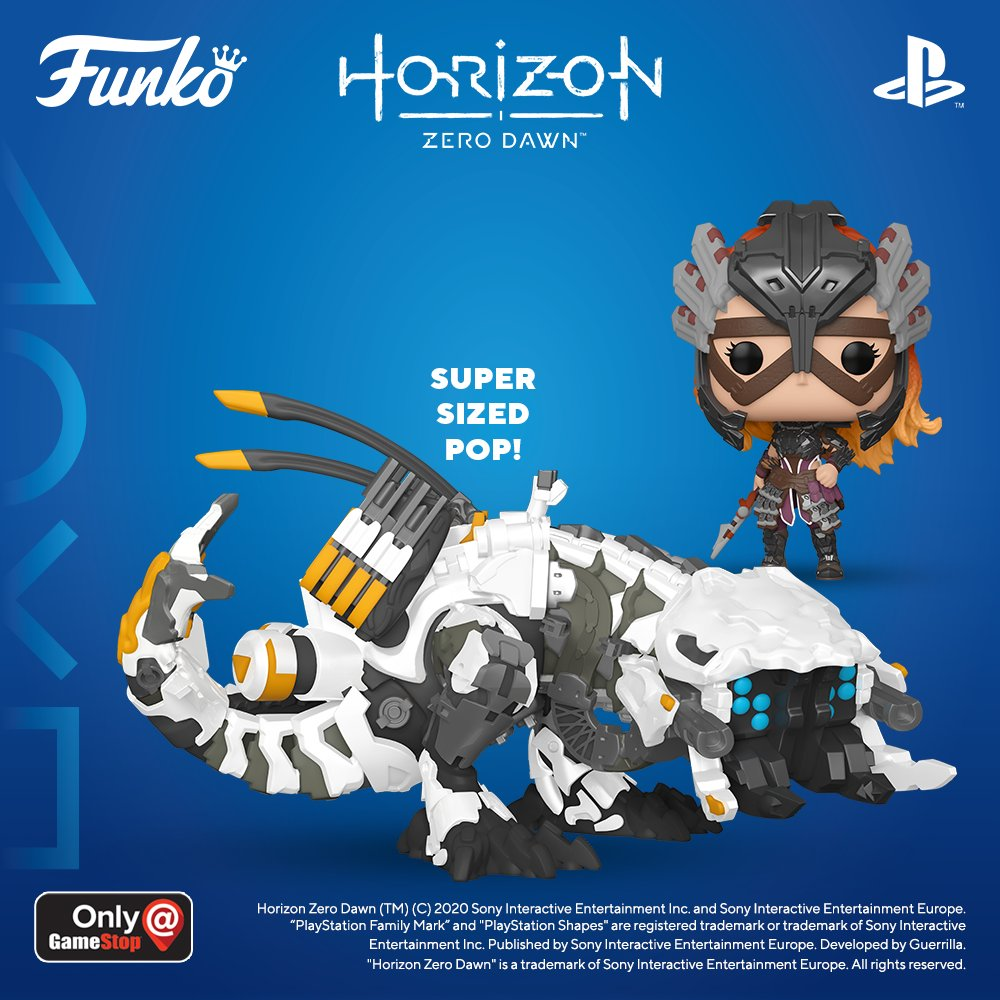 Coming Soon: Pop! Games: Horizon Zero Dawn 🏹 Aloy in Shadow Stalwart Armor ⚡️ Thunderjaw (Super-Sized) Products are sold separately. Pre-order yours today! https://t.co/K6EKQPoEr7   #BeyondTheHorizon #Funko #FunkoPop #PopVinyl #PlayStation https://t.co/uZR9APnuZ6