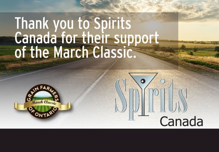 Grain Farmers of Ontario was disappointed the 2020 March Classic was cancelled due to COVID-19 but we are already planning ahead to 2021! We want to thank our industry partners, @SpiritsCanada for their continued support!