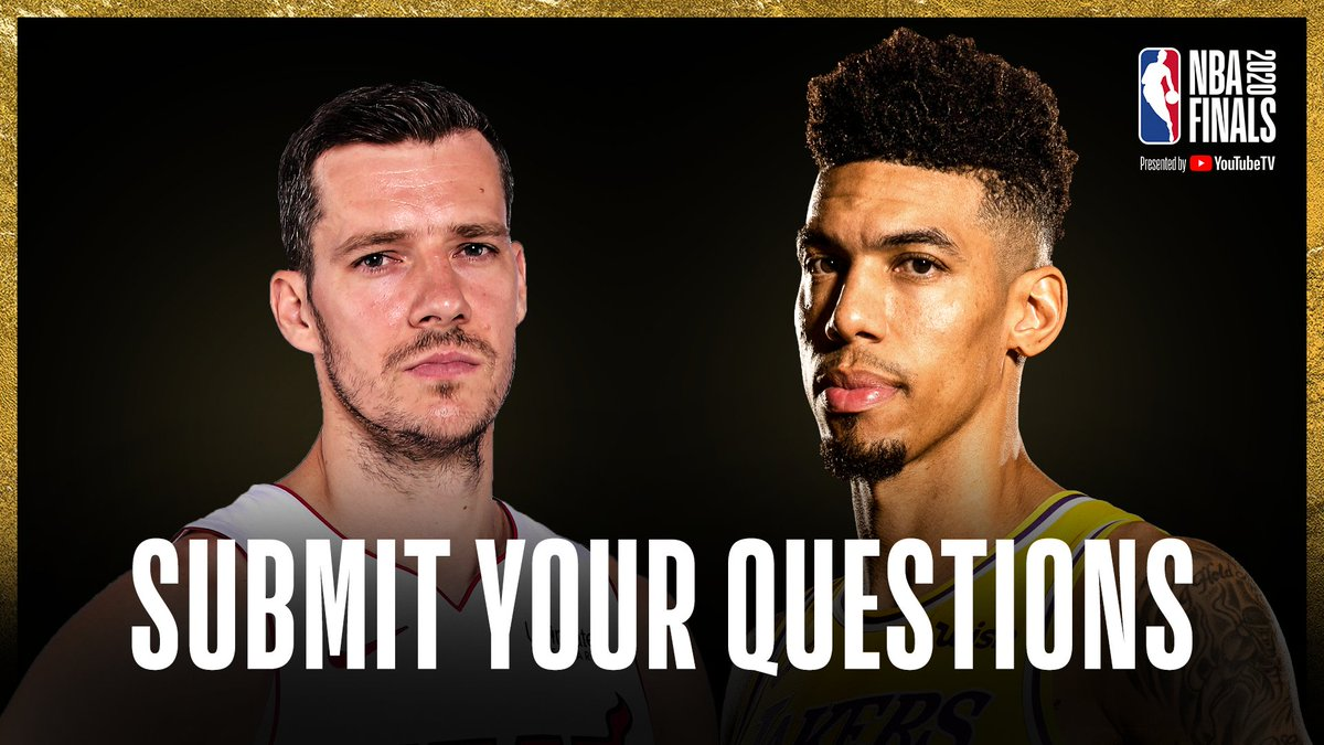 We're with Goran Dragic of the Miami Heat and Danny Green of the Los Angeles Lakers today at Media Day ahead of the #NBAFinals presented by YouTube TV!  Reply to this tweet to ask @Goran_Dragic OR @DGreen_14 a question 🏆⤵️ https://t.co/UNDNGWUivp