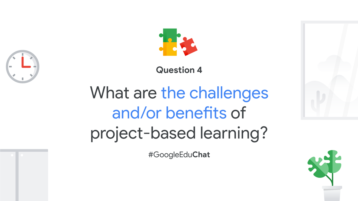 Q4: Project-based learning is a great way to help students explore a topic, think creatively, and develop ownership over their learning—both virtually and in-person. Have you used #PBL? What were the challenges and/or benefits? https://t.co/l0oQlCAiSK