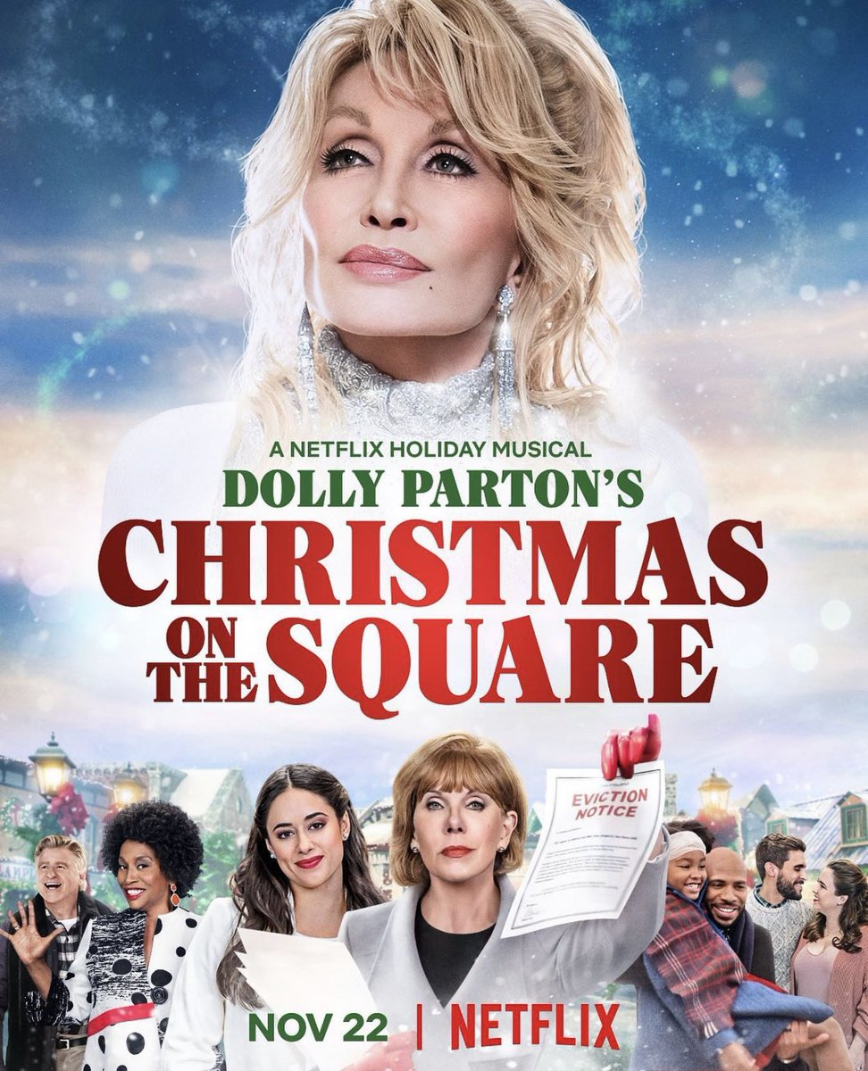 #ChristmasOnTheSquare will bring the JOY the world needs right now. @DollyParton and the entire cast were amazing to work with. God Bless Sam Haskell and @NetflixFamily for making it happen. 🙏🏼👏🏼❤️ https://t.co/X513qujj7I
