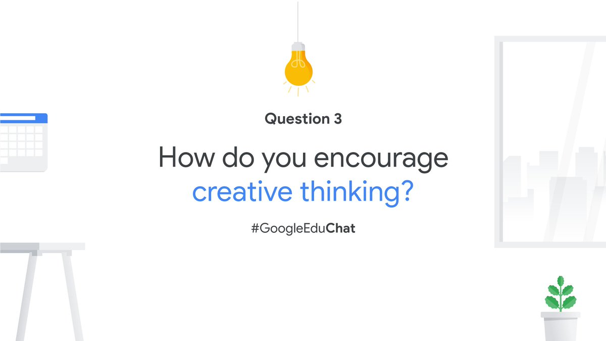 Q3: How do you encourage creative thinking and design learning opportunities that foster innovation and invention? https://t.co/gRT4XCzV8X
