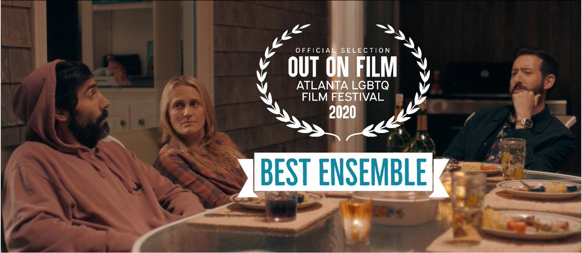 🏅We are OVER THE MOON to be receiving the Jury prize for Best Ensemble from the Oscar-qualifying Out On Film Atlanta! If you're in GA, see the film at 6pm TONIGHT (9/29) Q&A @ 8! Tix: https://t.co/fyuC5m2rTn  #outonfilm #awardwinning #oscarqualifying  #giveortakemovie #indiefilm https://t.co/AASzQ3zuCU