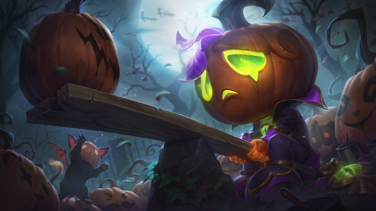 Pumpkin Prince Amumu and Bewitching Elise splashes https://t.co/A90RLoDCRp