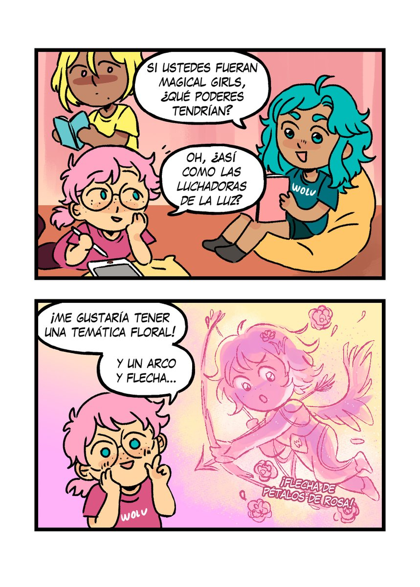 Wolucita y la magia💫🌟💖 Y ustedes, ¿qué poderes tendrían? 👀💫  ✨✨https://t.co/3ay8Avwmqe✨✨  #comic #manga #4koma #wolucita #magicalgirl https://t.co/od68fdNS2q