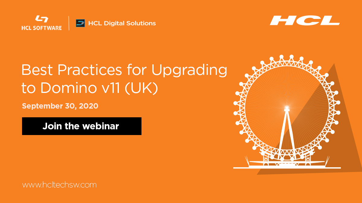 On the fence about upgrading to #Domino v11? Join our #webinar today for the easy, best practices for a trouble-free upgrade. Join now: https://t.co/fu8u8WDs1d #dominoforever #hcldomino #hclsoftware #hclswlobp